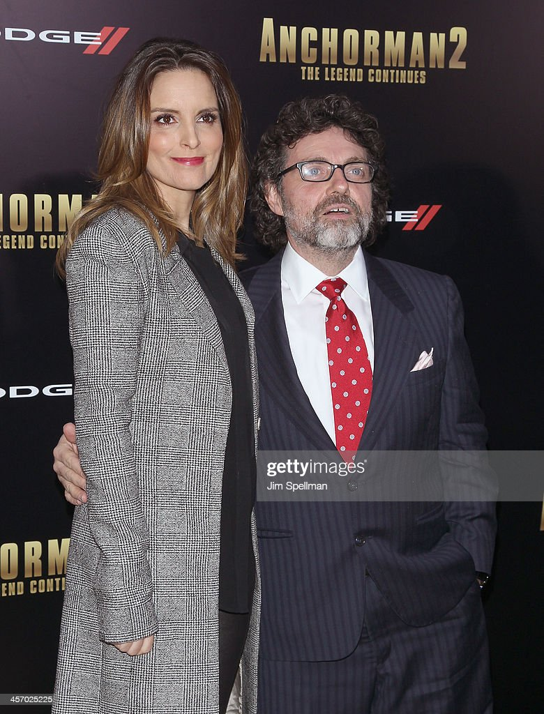 Actress <a gi-track='captionPersonalityLinkClicked' href=/galleries/search?phrase=Tina+Fey&family=editorial&specificpeople=206753 ng-click='$event.stopPropagation()'>Tina Fey</a> and husband <a gi-track='captionPersonalityLinkClicked' href=/galleries/search?phrase=Jeff+Richmond&family=editorial&specificpeople=2121745 ng-click='$event.stopPropagation()'>Jeff Richmond</a> attend the 'Anchorman 2: The Legend Continues' U.S. premiere at Beacon Theatre on December 15, 2013 in New York City.