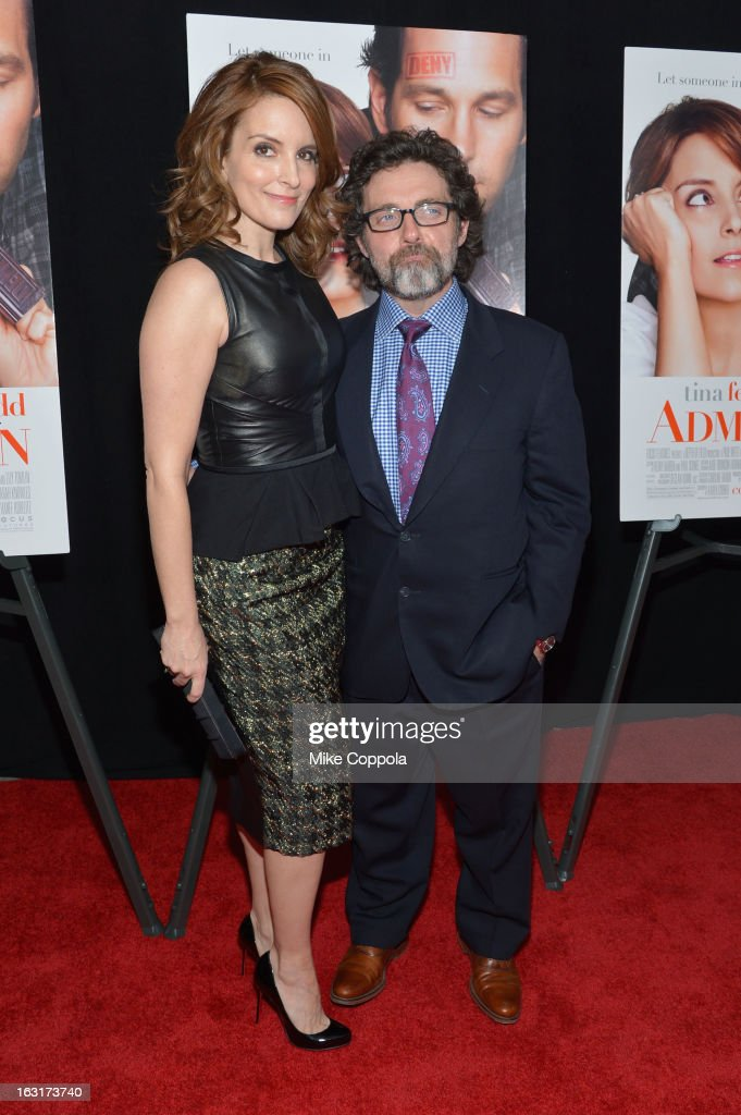 Actress <a gi-track='captionPersonalityLinkClicked' href=/galleries/search?phrase=Tina+Fey&family=editorial&specificpeople=206753 ng-click='$event.stopPropagation()'>Tina Fey</a> and <a gi-track='captionPersonalityLinkClicked' href=/galleries/search?phrase=Jeff+Richmond&family=editorial&specificpeople=2121745 ng-click='$event.stopPropagation()'>Jeff Richmond</a> attend the 'Admission' New York Premiere at AMC Loews Lincoln Square 13 on March 5, 2013 in New York City.