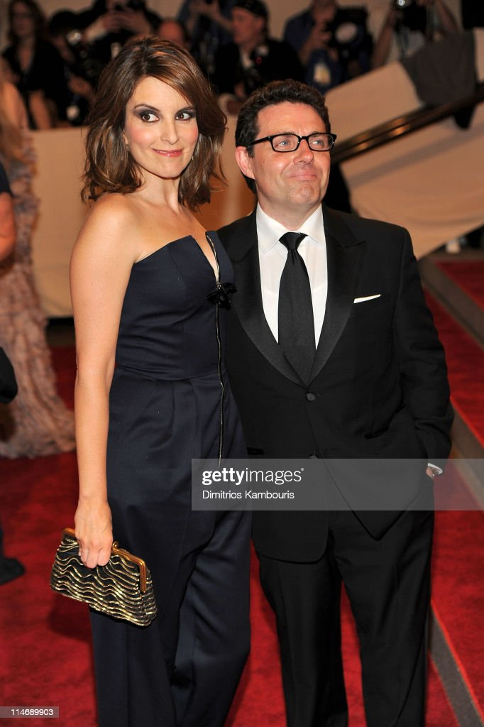 Actress Tina Fey and Jeff Richmond attend the Costume Institute Gala Benefit to celebrate the opening of the 'American Woman: Fashioning a National Identity' exhibition at The Metropolitan Museum of Art on May 3, 2010 in New York City.