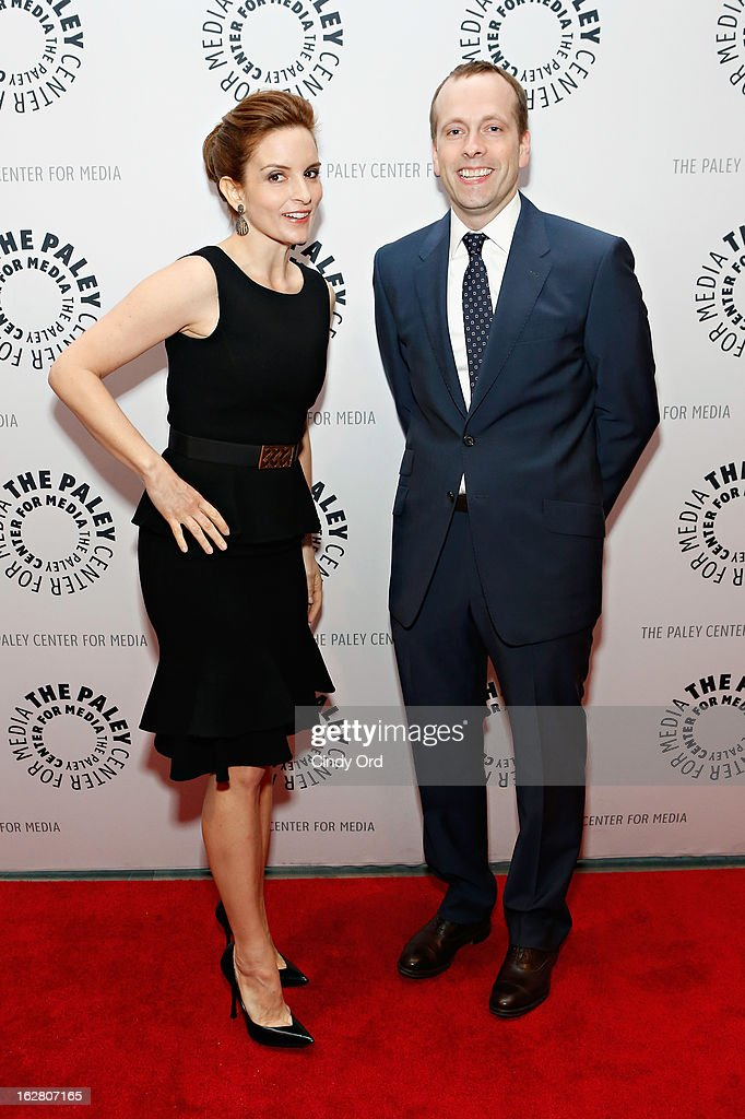 Actress Tina Fey and television producer/ writer Robert Carlock attends The Paley Center for Media Presents: 'Hey Dummies: An Evening With The 30 Rock Writers' at The Paley Center for Media on February 27, 2013 in New York City.