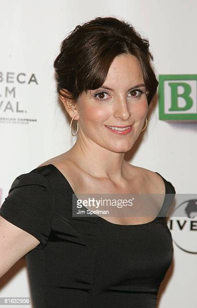 Actress Tina Fey arrives at 7th Annual Tribeca Film Festival 'Baby Mama' Opening Night Premiere at the Ziegfeld Theater on April 23 2008 in New York...