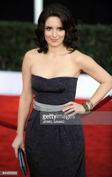 Actress Tina Fey arrives at the 15th Annual Screen Actors Guild Awards at the Shrine Auditorium in Los Angeles California on January 25 2009 AFP...