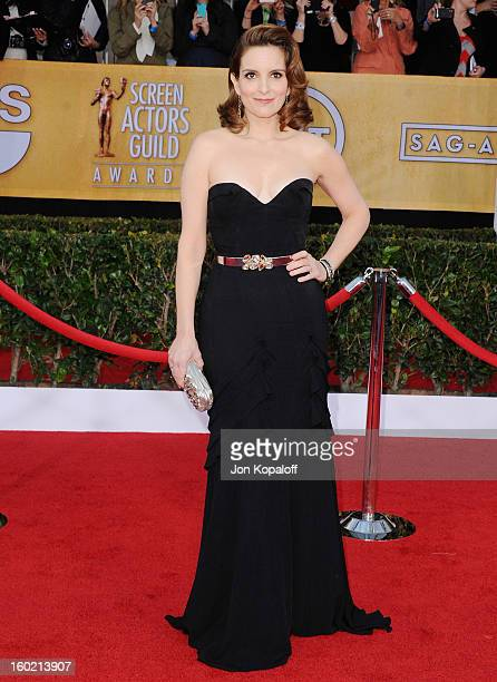 Actress Tina Fey arrives at the 19th Annual Screen Actors Guild Awards at The Shrine Auditorium on January 27 2013 in Los Angeles California
