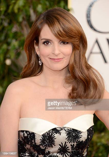 Actress Tina Fey arrives at the 70th Annual Golden Globe Awards held at The Beverly Hilton Hotel on January 13 2013 in Beverly Hills California