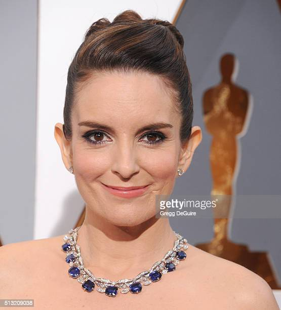 Actress Tina Fey arrives at the 88th Annual Academy Awards at Hollywood Highland Center on February 28 2016 in Hollywood California