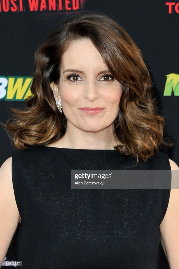 Actress <a gi-track='captionPersonalityLinkClicked' href=/galleries/search?phrase=Tina+Fey&family=editorial&specificpeople=206753 ng-click='$event.stopPropagation()'>Tina Fey</a> arrives at the Los Angeles premiere of 'Muppets Most Wanted' at the El Capitan Theatre on March 11, 2014 in Hollywood, California.