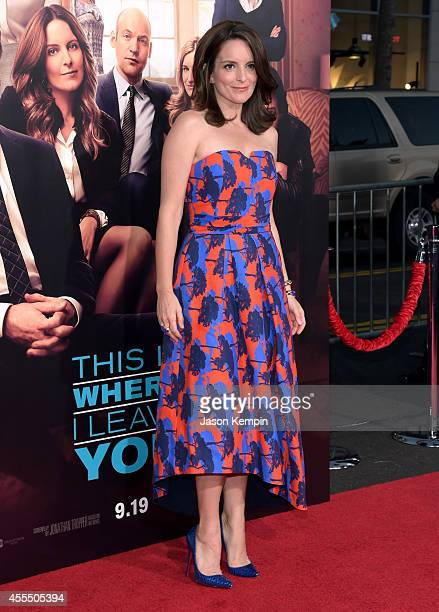 Actress Tina Fey arrives at the premiere of Warner Bros Pictures' 'This Is Where I Leave You' at TCL Chinese Theatre on September 15 2014 in...