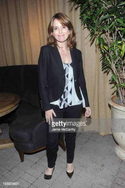 Actress Tina Fey attends Entertainment Weekly and NBC's celebration of the final season of 30 Rock sponsored by Garnier Nutrisse on October 3 2012 in...