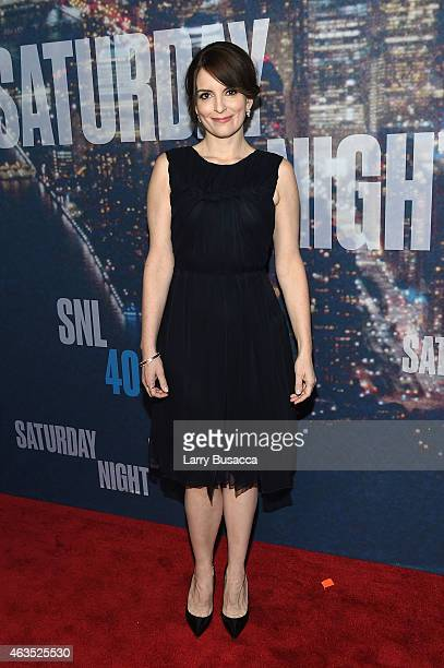 Actress Tina Fey attends SNL 40th Anniversary Celebration at Rockefeller Plaza on February 15 2015 in New York City