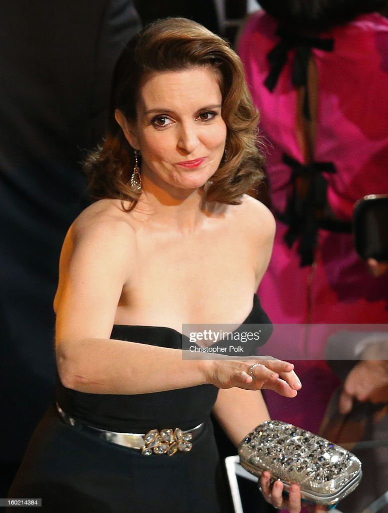 Actress Tina Fey attends the 19th Annual Screen Actors Guild Awards at The Shrine Auditorium on January 27, 2013 in Los Angeles, California. (Photo by Christopher Polk/WireImage) 23116_012_2225.jpg