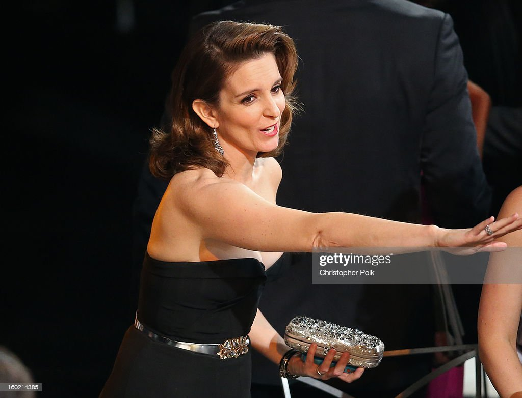 Actress Tina Fey attends the 19th Annual Screen Actors Guild Awards at The Shrine Auditorium on January 27, 2013 in Los Angeles, California. (Photo by Christopher Polk/WireImage) 23116_012_2216.jpg