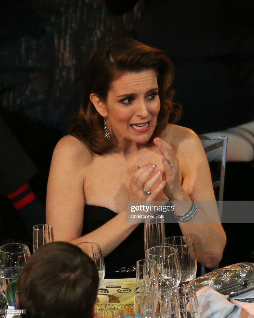 Actress Tina Fey attends the 19th Annual Screen Actors Guild Awards at The Shrine Auditorium on January 27, 2013 in Los Angeles, California. (Photo by Christopher Polk/WireImage) 23116_012_1147.jpg