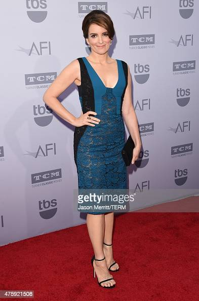 Actress Tina Fey attends the 2015 AFI Life Achievement Award Gala Tribute Honoring Steve Martin at the Dolby Theatre on June 4 2015 in Hollywood...