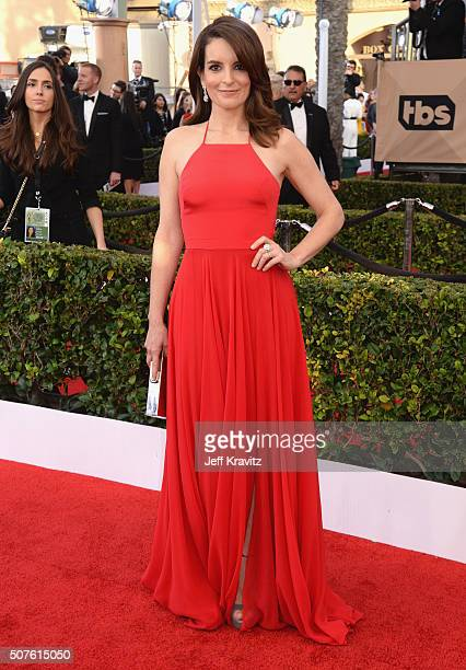Actress Tina Fey attends the 22nd Annual Screen Actors Guild Awards at The Shrine Auditorium on January 30 2016 in Los Angeles California