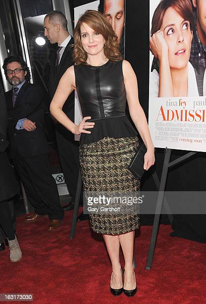 Actress Tina Fey attends the 'Admission' New York premiere at AMC Loews Lincoln Square 13 on March 5 2013 in New York City