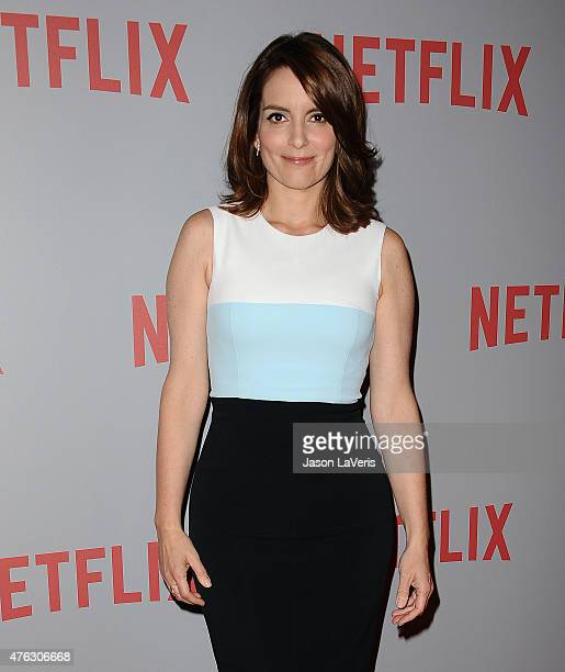 Actress Tina Fey attends the FYC screening of Netflix's 'Unbreakable Kimmy Schmidt' at Pacific Design Center on June 7 2015 in West Hollywood...