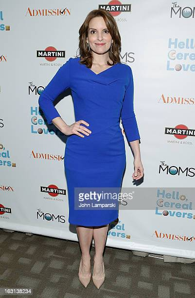 Actress Tina Fey attends The MOMS Celebrate the Release Of 'Admission' at Disney Screening Room on March 5 2013 in New York City