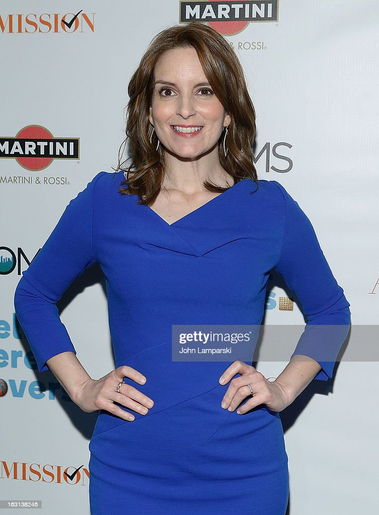 Actress <a gi-track='captionPersonalityLinkClicked' href=/galleries/search?phrase=Tina+Fey&family=editorial&specificpeople=206753 ng-click='$event.stopPropagation()'>Tina Fey</a> attends The MOMS Celebrate the Release Of 'Admission' at Disney Screening Room on March 5, 2013 in New York City.