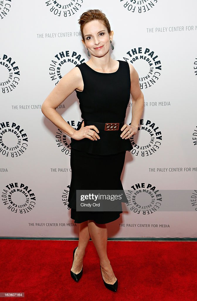 Actress <a gi-track='captionPersonalityLinkClicked' href=/galleries/search?phrase=Tina+Fey&family=editorial&specificpeople=206753 ng-click='$event.stopPropagation()'>Tina Fey</a> attends The Paley Center for Media Presents: 'Hey Dummies: An Evening With The 30 Rock Writers' at The Paley Center for Media on February 27, 2013 in New York City.