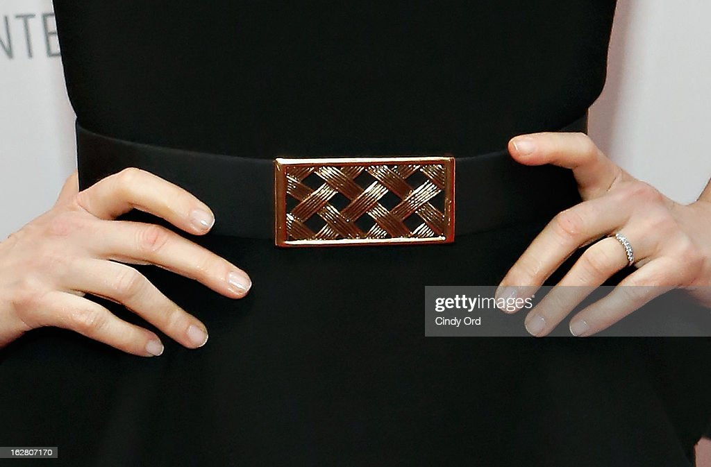 Actress <a gi-track='captionPersonalityLinkClicked' href=/galleries/search?phrase=Tina+Fey&family=editorial&specificpeople=206753 ng-click='$event.stopPropagation()'>Tina Fey</a> (belt detail) attends The Paley Center for Media Presents: 'Hey Dummies: An Evening With The 30 Rock Writers' at The Paley Center for Media on February 27, 2013 in New York City.