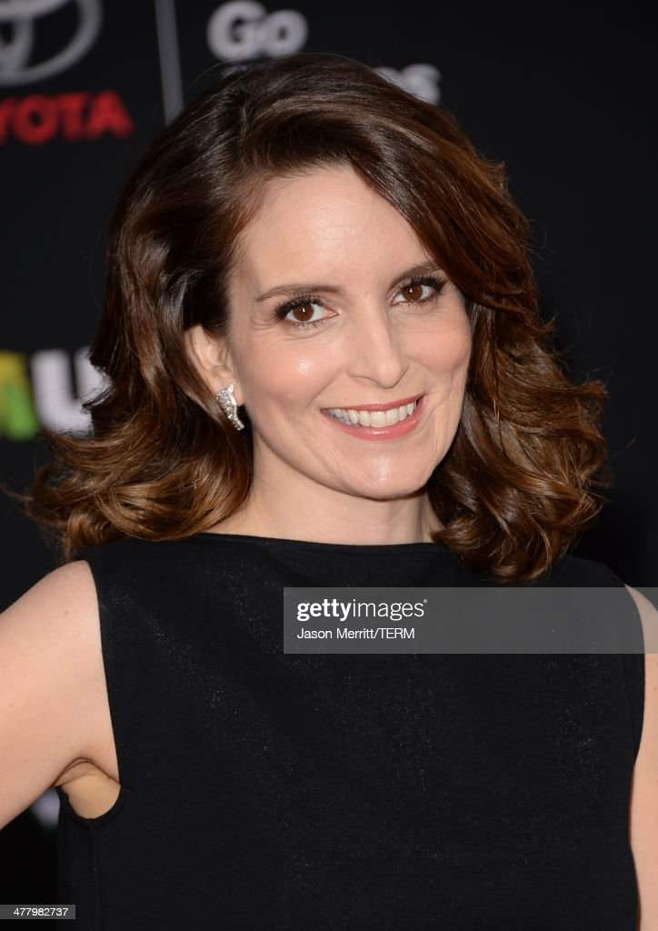 Actress <a gi-track='captionPersonalityLinkClicked' href=/galleries/search?phrase=Tina+Fey&family=editorial&specificpeople=206753 ng-click='$event.stopPropagation()'>Tina Fey</a> attends the premiere of Disney's 'Muppets Most Wanted' at the El Capitan Theatre on March 11, 2014 in Hollywood, California.