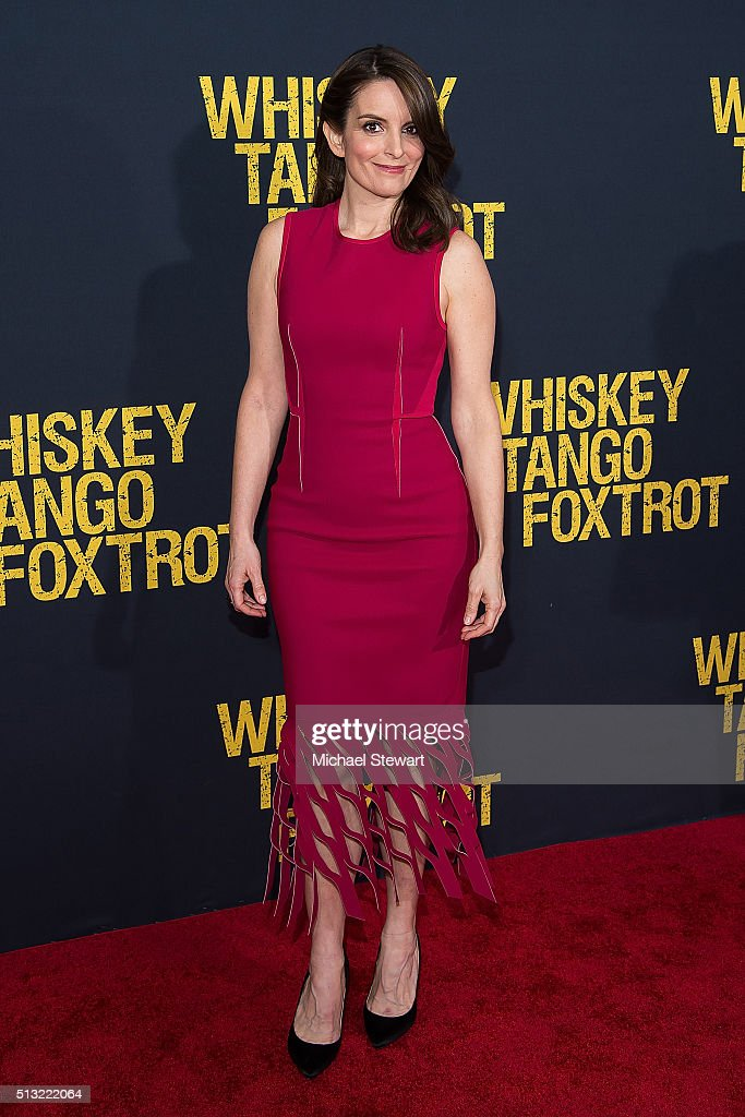 Actress Tina Fey attends the 'Whiskey Tango Foxtrot' World Premiere at AMC Loews Lincoln Square 13 theater on March 1, 2016 in New York City.