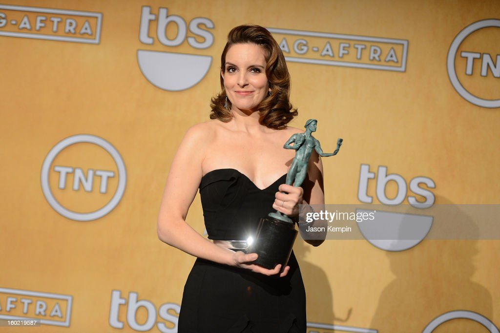 Actress Tina Fey attends the19th Annual Screen Actors Guild Awards Press Room at The Shrine Auditorium on January 27, 2013 in Los Angeles, California.