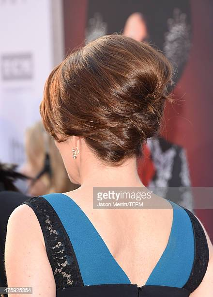 Actress Tina Fey fashion detail attends the 2015 AFI Life Achievement Award Gala Tribute Honoring Steve Martin at the Dolby Theatre on June 4 2015 in...
