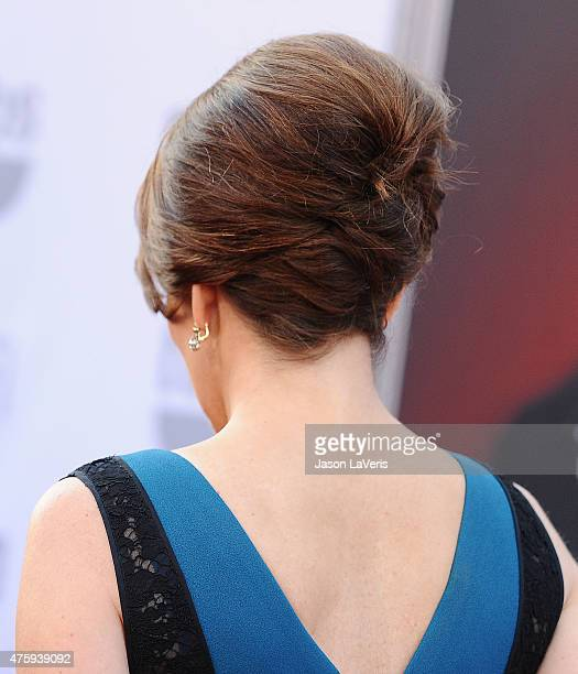 Actress Tina Fey hair detail attends the 43rd AFI Life Achievement Award gala at Dolby Theatre on June 4 2015 in Hollywood California
