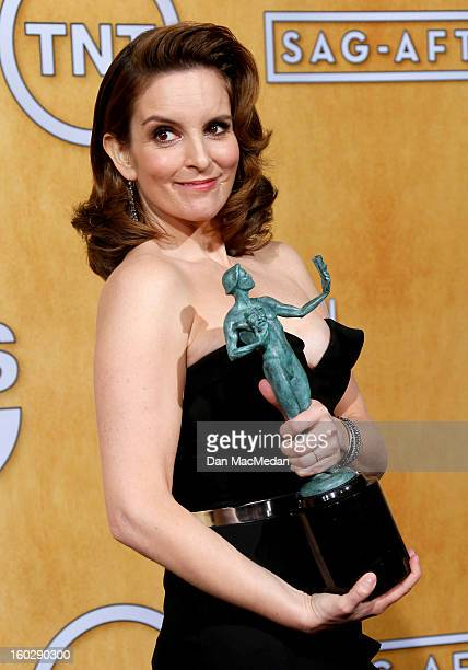 Actress Tina Fey winner of Outstanding Performance by a Female Actor in a Comedy Series for '30 Rock' poses in the press room at the 19th Annual...