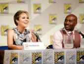 Actress Tina Majorino and actor Morris Chestnut attend TNT's 'Legends' panel during ComicCon International San Diego 2014 at San Diego Convention...