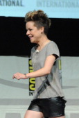 Actress Tina Majorino speaks onstage at the 'Veronica Mars' special video presentation and QA during ComicCon International 2013 at San Diego...