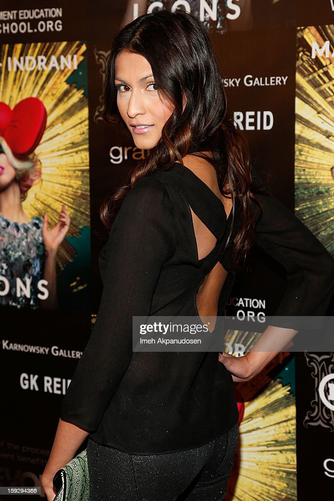 Actress Tinsel Korey attends the Markus + Indrani ICONS Book Launch Party at Merry Karnowsky Gallery on January 10, 2013 in Los Angeles, California.