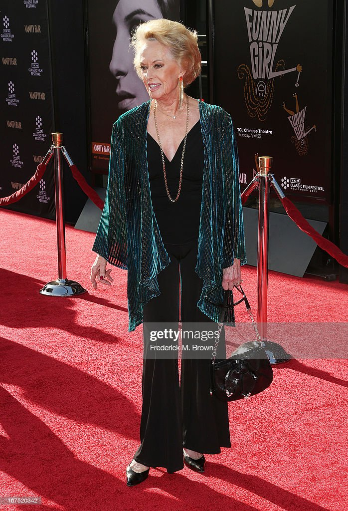 Actress Tippi Hedren attends the 2013 TCM Classic Film Festival Opening Night Gala screening of 'Funny Girl' at the TCL Chinese Theatre on April 25, 2013 in Hollywood, California.