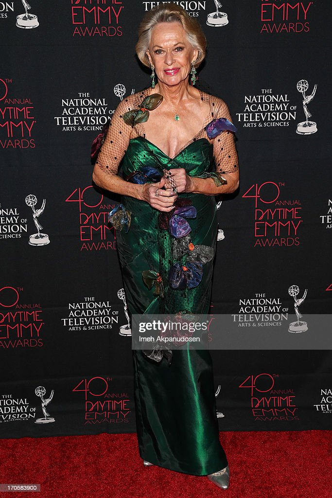 Actress <a gi-track='captionPersonalityLinkClicked' href=/galleries/search?phrase=Tippi+Hedren&family=editorial&specificpeople=208696 ng-click='$event.stopPropagation()'>Tippi Hedren</a> attends The National Academy Of Television Arts & Sciences Presents The 40th Annual Daytime Entertainment Creative Arts Emmy Awards at Westin Bonaventure Hotel on June 14, 2013 in Los Angeles, California.