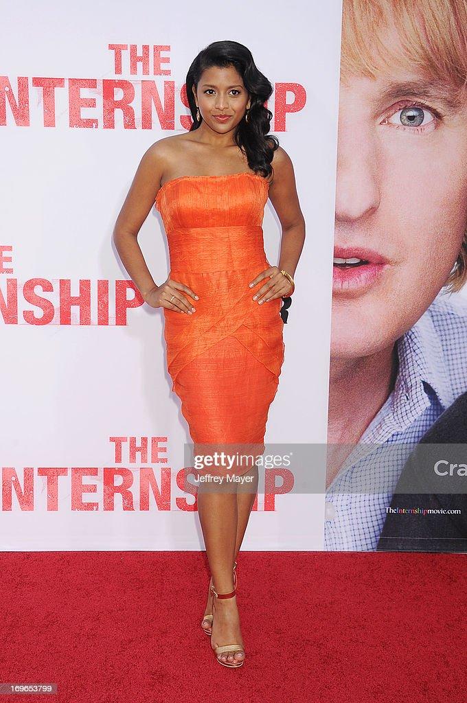 Actress Tiya Sircar arrives at 'The Internship' - Los Angeles Premiere at Regency Village Theatre on May 29, 2013 in Westwood, California.