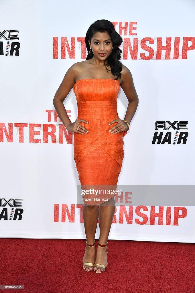 Actress Tiya Sircar arrives at the Premiere Of Twentieth Century Fox's 'The Internship' on May 29, 2013 in Westwood, California.