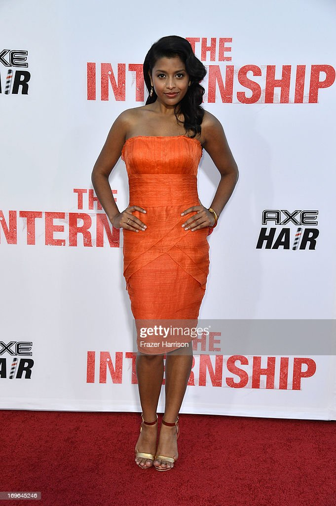 Actress Tiya Sircar arrives at the Premiere Of Twentieth Century Fox's 'The Internship' on May 29, 2013 in Westwood, California.