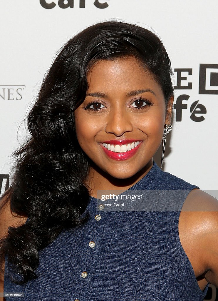 Actress <a gi-track='captionPersonalityLinkClicked' href=/galleries/search?phrase=Tiya+Sircar&family=editorial&specificpeople=5808452 ng-click='$event.stopPropagation()'>Tiya Sircar</a> attends day 1 of the WIRED Cafe @ Comic Con at Omni Hotel on July 24, 2014 in San Diego, California.