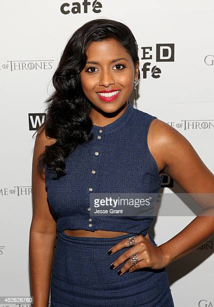 Actress Tiya Sircar attends day 1 of the WIRED Cafe @ Comic Con at Omni Hotel on July 24 2014 in San Diego California