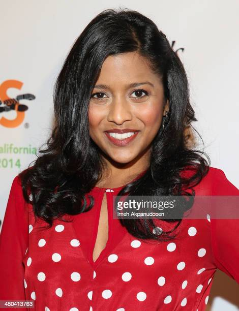 Actress Tiya Sircar attends the LA Celebrity MS Walk Kick Off Event at SupperClub Los Angeles on March 24 2014 in Los Angeles California