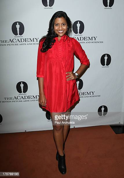 Actress Tiya Sircar attends the sneak preview of 'Short Term 12' at The Linwood Dunn Theater at the Pickford Center for Motion Study on August 7 2013...