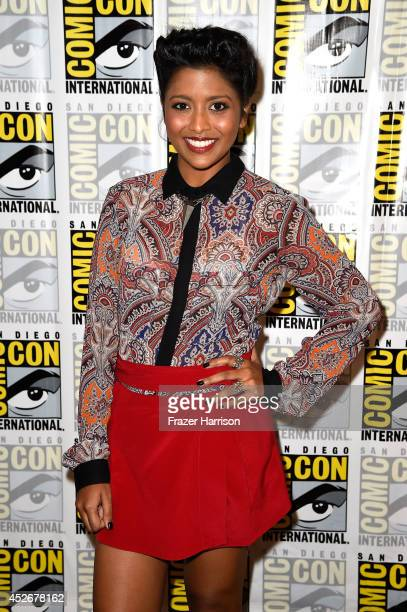 Actress Tiya Sircar attends the 'Star Wars Rebels' press line during ComicCon International 2014 at Hilton Bayfront on July 25 2014 in San Diego...