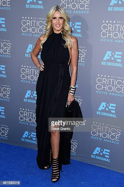 Actress Tiziana Rocca attends the 20th annual Critics' Choice Movie Awards at the Hollywood Palladium on January 15 2015 in Los Angeles California