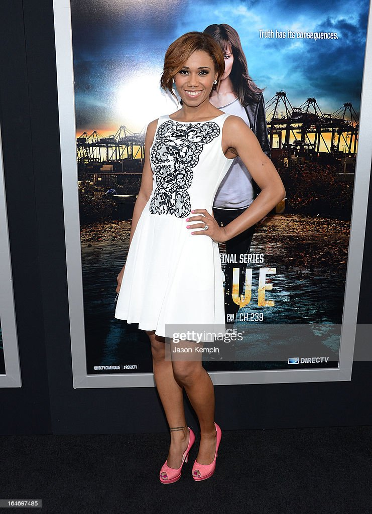 Actress Toks Olagundoye attends the premiere of 'Rogue' at ArcLight Cinemas on March 26, 2013 in Hollywood, California.