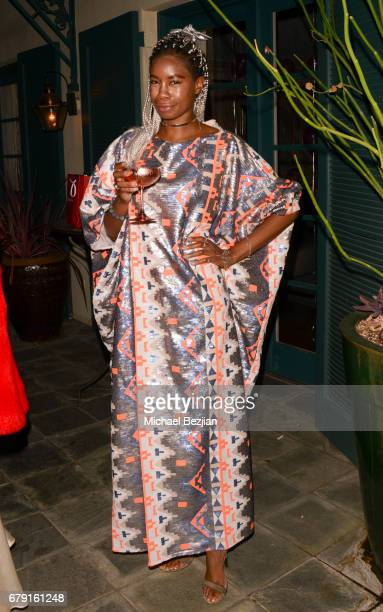 Actress Tolula Adeyemi attends Millie Brown's Rainbow Bodied Cocktail Event at the Private Residence of Jonas Tahlin CEO Absolut Elyx on May 4 2017...
