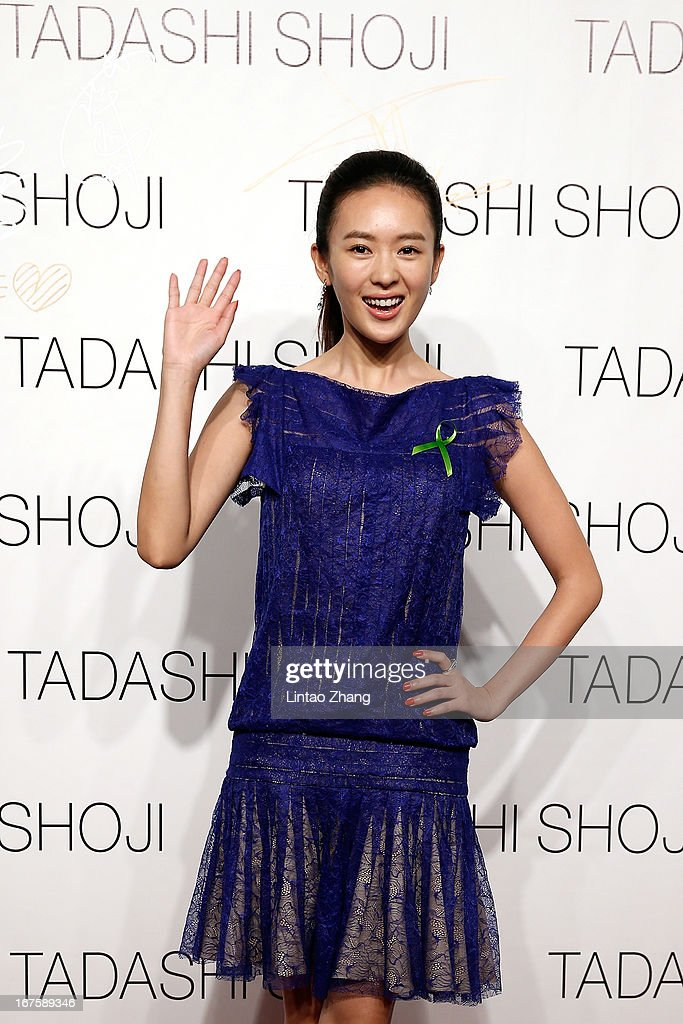 Actress Tong Yao attends the Tadashi Shoji Beijing Store Grand Opening at Beijing Parkview Green on April 26, 2013 in Beijing, China.