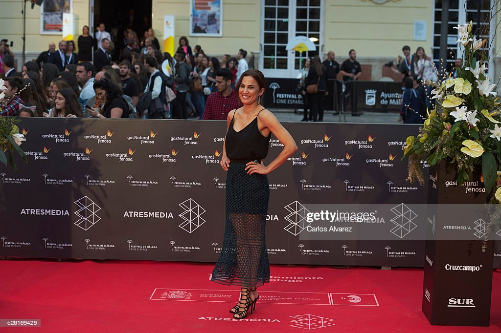 Actress Toni Acosta attends 'Koblic' premiere at the Cervantes Teather during the 19th Malaga Film Festival on April 29, 2016 in Malaga, Spain.