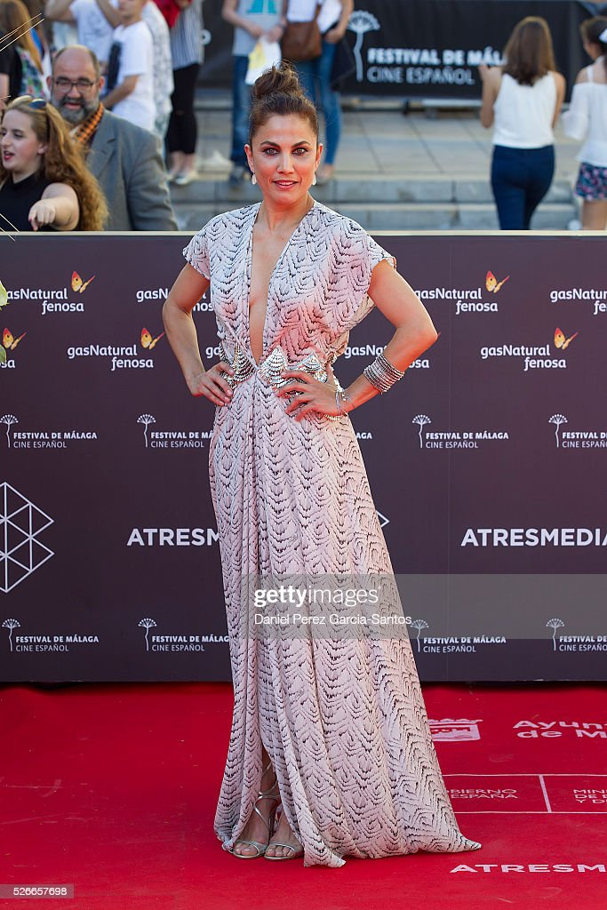 Actress Toni Acosta attends 'Nuestros Amantes' premiere during the 19th Malaga Film Festival at the Cervantes Teather on April 30, 2016 in Malaga, Spain.