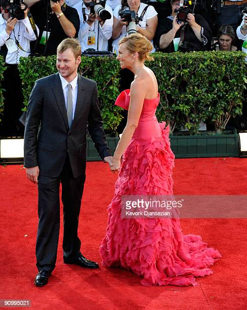 Actress Toni Collette and Dave Galafassi arrive at the 61st Primetime Emmy Awards held at the Nokia Theatre on September 20 2009 in Los Angeles...